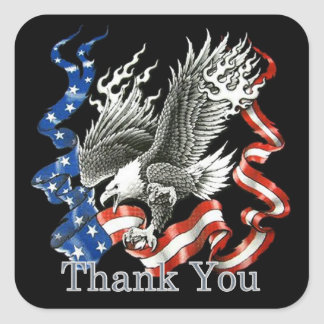 Patriotic Thank You Veterans Day Stickers