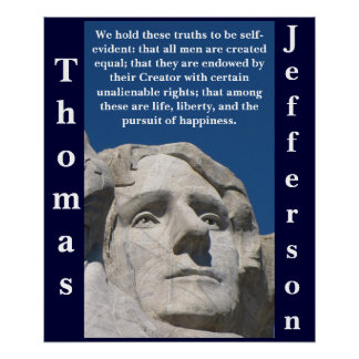 Patriotic Thomas Jefferson Poster