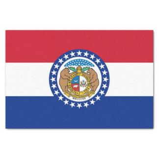 Patriotic tissue paper with flag Missouri, USA
