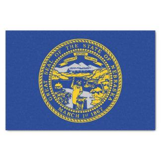 Patriotic tissue paper with flag Nebraska, USA