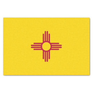 Patriotic tissue paper with flag New Mexico
