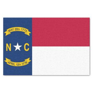 Patriotic tissue paper with flag North Carolina