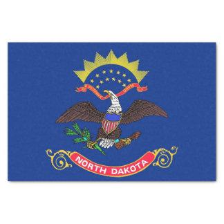 Patriotic tissue paper with flag North Dakota