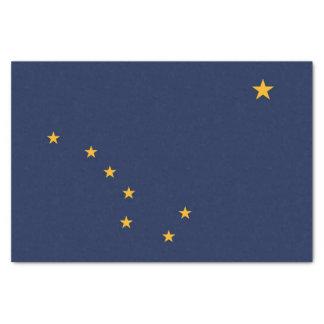 Patriotic tissue paper with flag of Alaska,U.S.A.