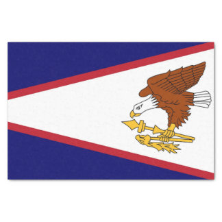 Patriotic tissue paper with flag of American Samoa