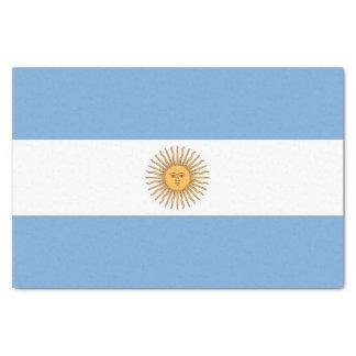 Patriotic tissue paper with flag of Argentina