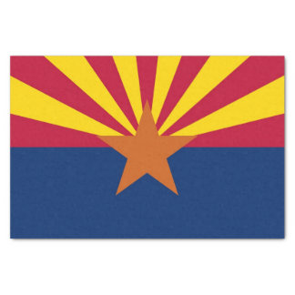 Patriotic tissue paper with flag of Arizona,U.S.A.