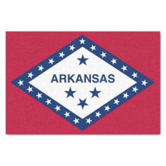Patriotic tissue paper with flag of Arkansas