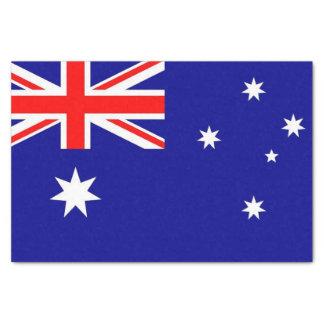 Patriotic tissue paper with flag of Australia