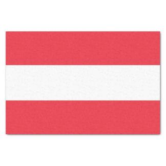 Patriotic tissue paper with flag of Austria