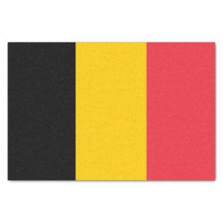 Patriotic tissue paper with flag of Belgium