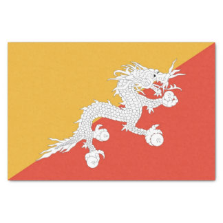 Patriotic tissue paper with flag of Bhutan