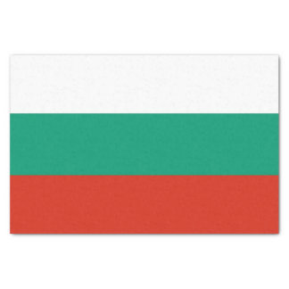Patriotic tissue paper with flag of Bulgaria