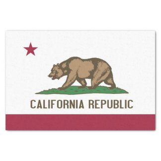 Patriotic tissue paper with flag of California
