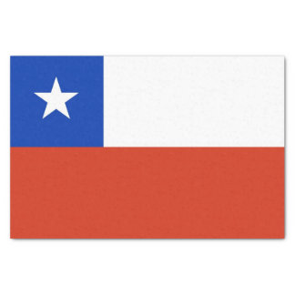 Patriotic tissue paper with flag of Chile