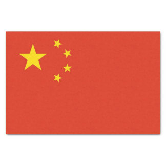 Patriotic tissue paper with flag of China