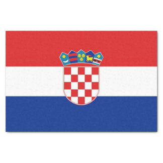 Patriotic tissue paper with flag of Croatia