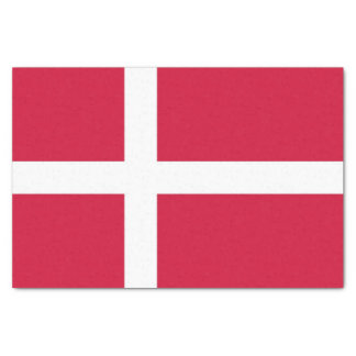 Patriotic tissue paper with flag of Denmark