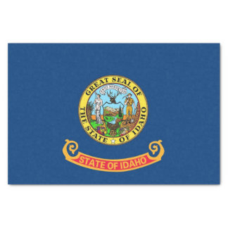 Patriotic tissue paper with flag of Idaho