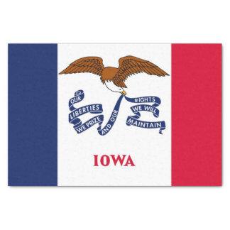 Patriotic tissue paper with flag of Iowa