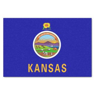 Patriotic tissue paper with flag of Kansas