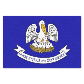 Patriotic tissue paper with flag of Louisiana