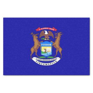 Patriotic tissue paper with flag of Michigan