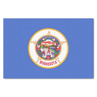 Patriotic tissue paper with flag of Minnesota, USA