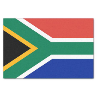 Patriotic tissue paper with flag of South Africa