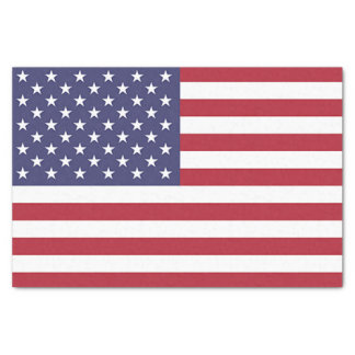 Patriotic tissue paper with flag of U.S.A.