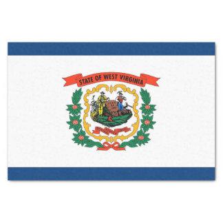 Patriotic tissue paper with flag of West Virginia