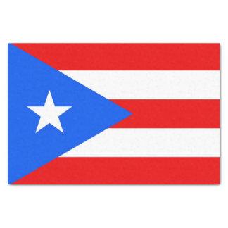 Patriotic tissue paper with flag Puerto Rico, USA