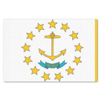 Patriotic tissue paper with flag Rhode Island