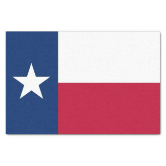 Patriotic tissue paper with flag Texas, USA