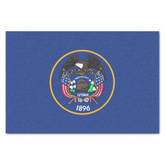 Patriotic tissue paper with flag Utah, USA