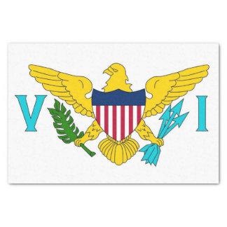 Patriotic tissue paper with flag Virgin Islands
