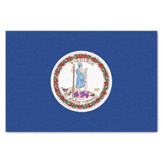 Patriotic tissue paper with flag Virginia, USA