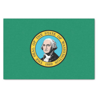 Patriotic tissue paper with flag Washington State