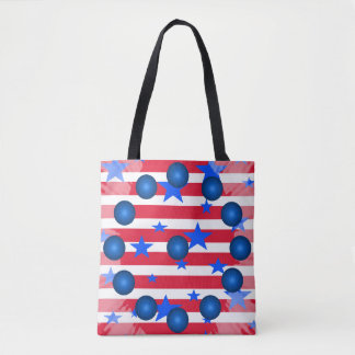 Patriotic Tote Red White Blue Stars Stripes USA