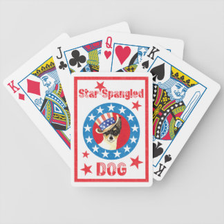 Patriotic Toy Fox Terrier Bicycle Playing Cards