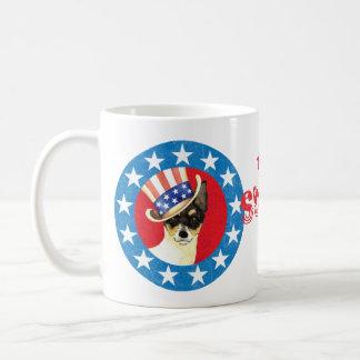 Patriotic Toy Fox Terrier Coffee Mug