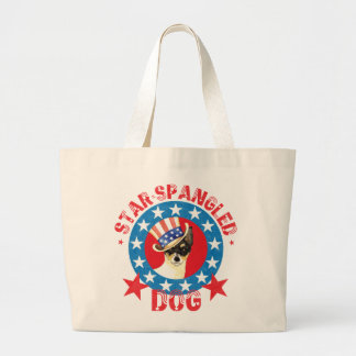 Patriotic Toy Fox Terrier Large Tote Bag