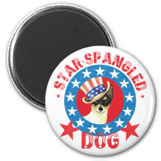 Patriotic Toy Fox Terrier Magnet