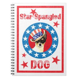Patriotic Toy Fox Terrier Notebook
