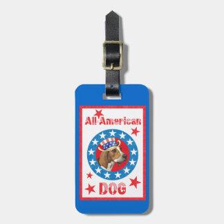 Patriotic Treeing Walker Travel Bag Tags