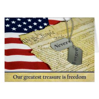 Patriotic Tribute Card