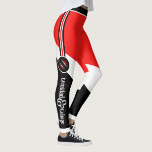 Patriotic Trinidad and Tobago Colours with Name Leggings