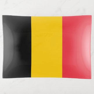 Patriotic trinket tray with flag of Belgium