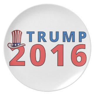 Patriotic Trump 16 Presidential Plate