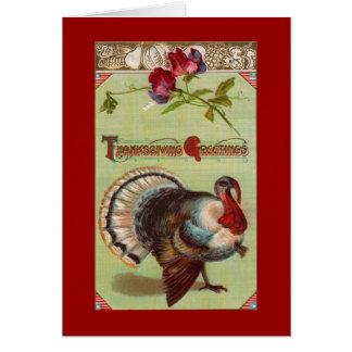 Patriotic Turkey Red Greeting Card